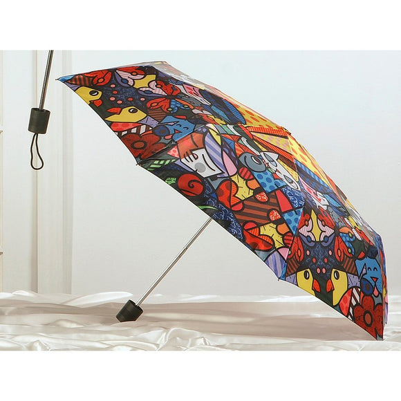 ROMERO BRITTO TRAVEL UMBRELLA- GARDEN DESIGN