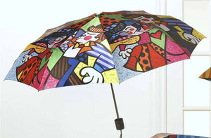 ROMERO BRITTO TRAVEL UMBRELLA- SWING DESIGN