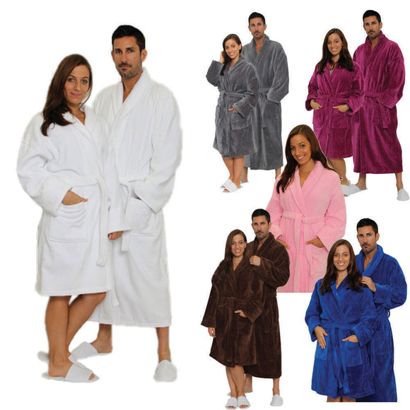 Velour Shawl Bathrobe