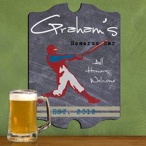 Vintage Personalized Homerun! Tavern Sign