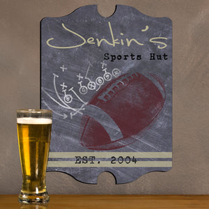 Vintage Personalized Football Tavern Sign