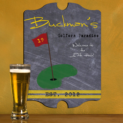 Vintage Personalized Golf Tavern Sign