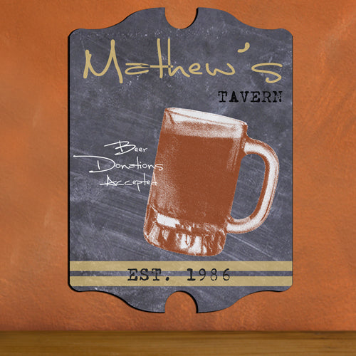 Vintage Personalized Beer Mug Tavern Sign