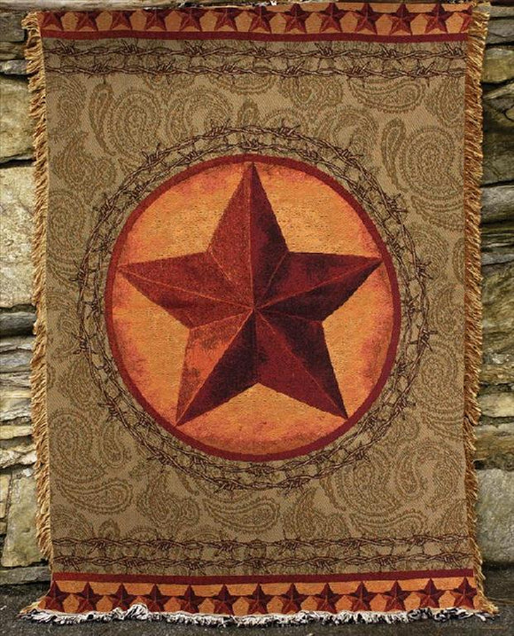 Western Star Tapestry Throw