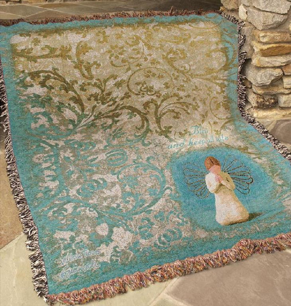 WILLOW TREE- ANGEL TAPESTRY THROW