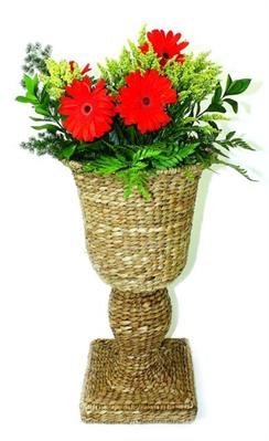 Woven Sea Grass Urn Planter with Liner