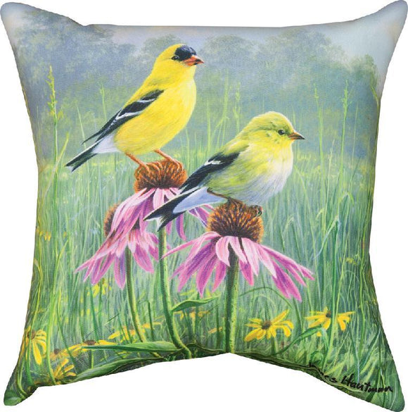Yellow Finch Field Indoor/Outdoor Pillows Set of 2