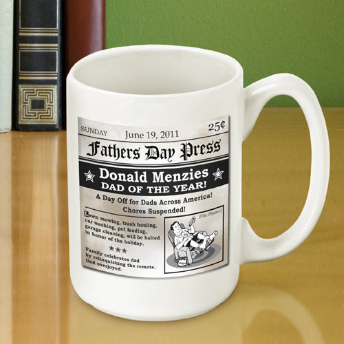 Father's Day Headline Personalized Coffee Mug