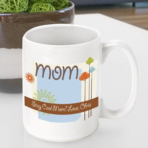 Personalized Mother's Day Coffee Mug- Nature's Song Design
