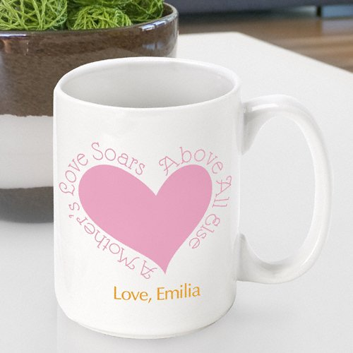 Personalized Mother's Day Coffee Mug- Mom Above All Else Design