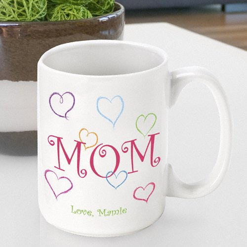 Personalized Mother's Day Coffee Mug- Mom's Love Design