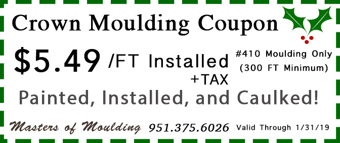 Crown Moulding Installation Murrieta Temecula CA