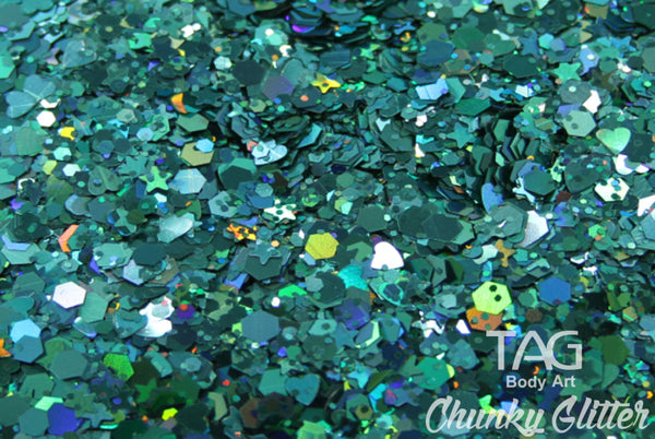 Chunky Glitter AQUA by TAG BODY ART 10gm