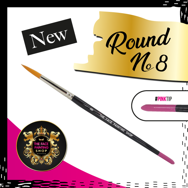The Face Painting Shop ROUND size 8 Brush