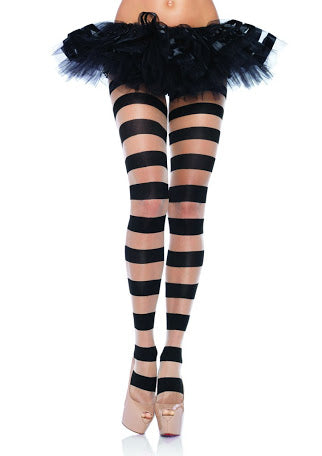Leg Avenue SHEER AND OPAQUE STRIPED Pantyhose