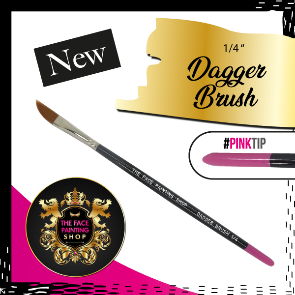 The Face Painting Shop 1/4 inch DAGGER Brush