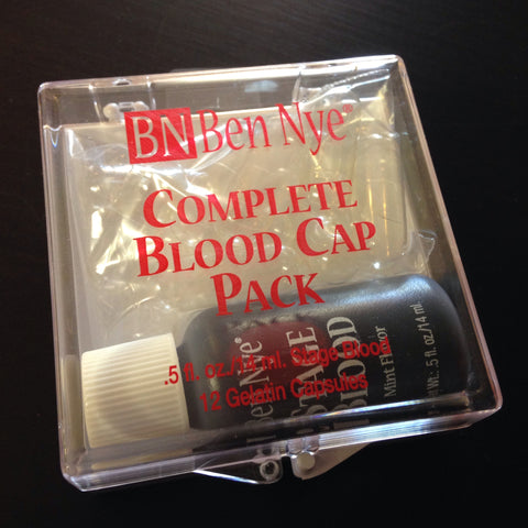 Ben Nye Complete Blood Cap Pack14ml stage blood, 12 gelatin capsules