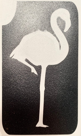 Flamingo tattoo stencil