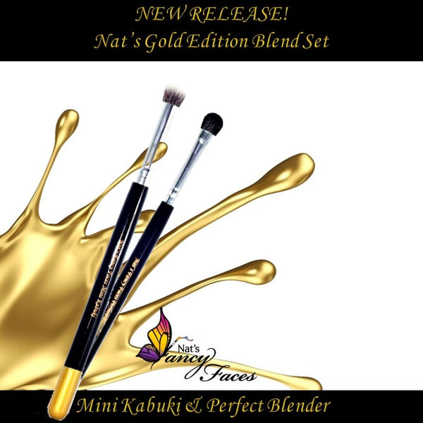 "Nat's Gold Edition ""BLEND SET"" (mini kabuki and perfect blender)"