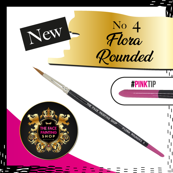 The Face Painting Shop ROUNDED FLORA BRUSH 4