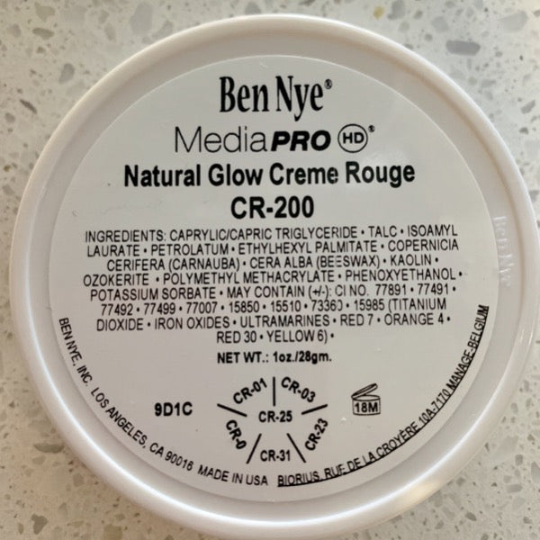 Ben Nye MediaPRO NATURAL GLOW CREME ROUGE Wheel