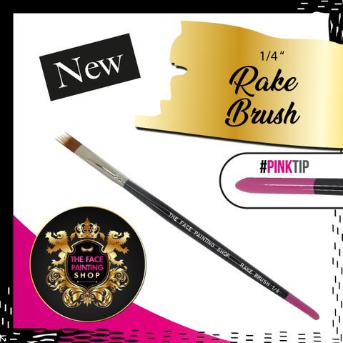 The Face Painting Shop RAKE BRUSH 1/4 Brush