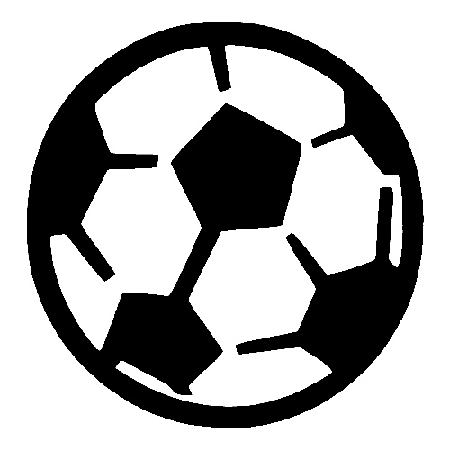 Soccer Ball TAG glitter tattoo stencil