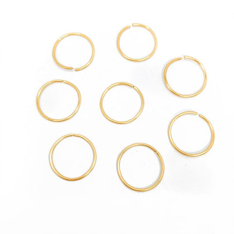 Living the Gleam GOLD (hair rings x 8)