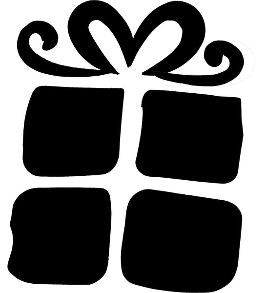 Gift Box TAG glitter tattoo stencil