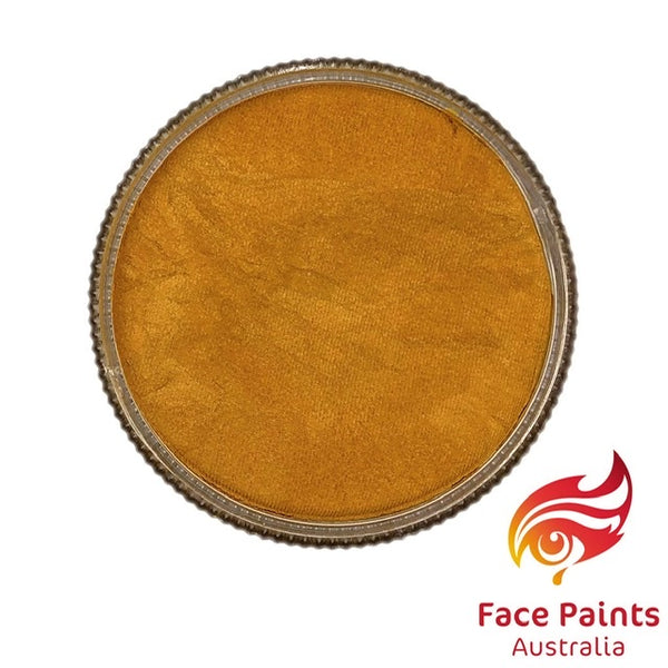 Face Paints Australia Metallix MUSTARD