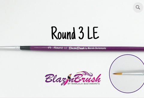 ROUND 3 LE (limited edition) Blazin Brush by Marcela Bustamante