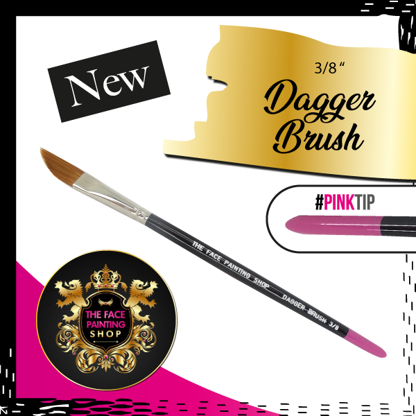 The Face Painting Shop 3/8 inch DAGGER Brush