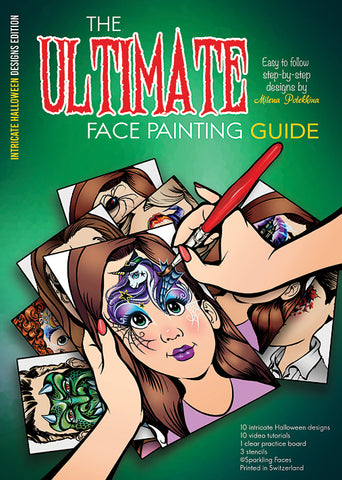 PRE ORDER Sparkling Faces Milena's Halloween Face Painting Guide