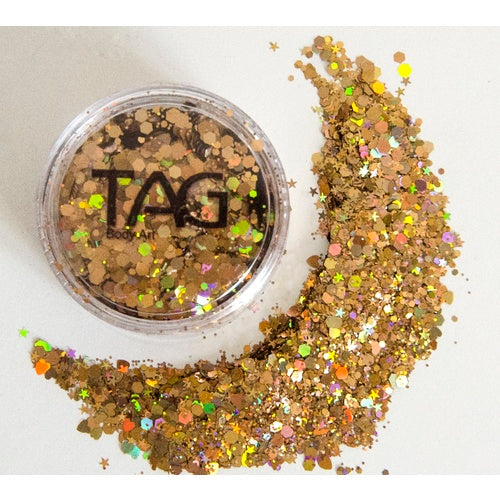 Chunky Glitter DARK GOLD by TAG BODY ART 10gm