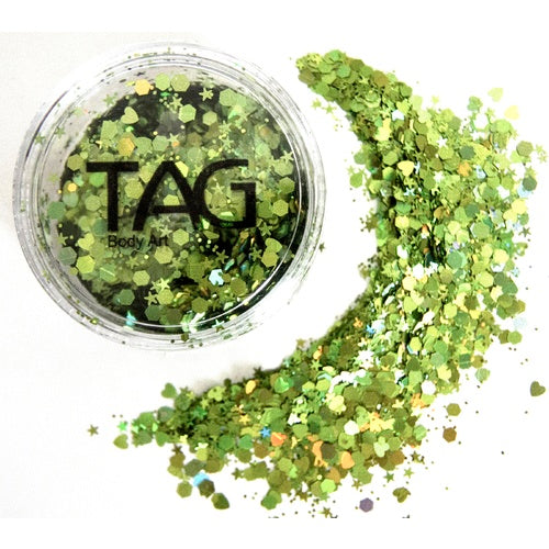 Chunky Glitter GREEN by TAG BODY ART 10gm