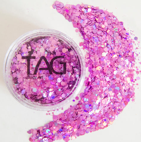 Chunky Glitter PINK by TAG BODY ART 10gm