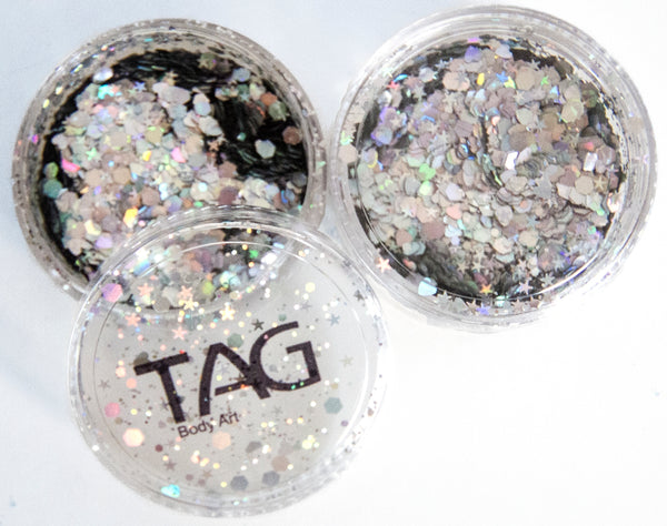Chunky Glitter SILVER by TAG BODY ART 10gm