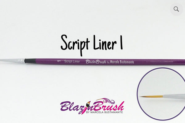 SCRIPT LINER 1 Blazin Brush by Marcela Bustamante