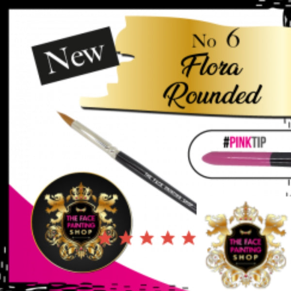 The Face Painting Shop ROUNDED FLORA BRUSH 6