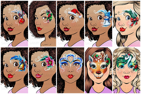 Sparkling Faces MAGICAL CHRISTMAS DESIGNS by Milena Potekhina Face Painting Guide