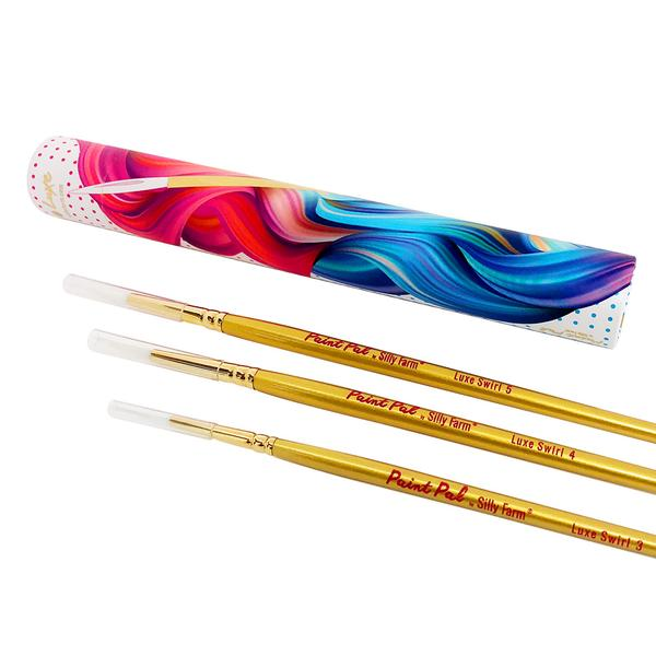 Silly Farm Paint Pal LUXE Swirl Brushes set
