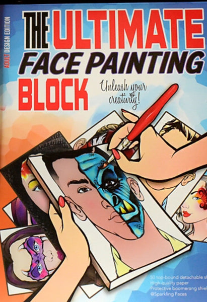 Sparkling Faces Ultimate Face Painting Block ADULT'S Edition