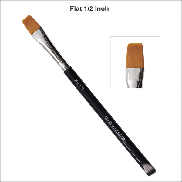 Global Colours Flat Brush 1/2 inch