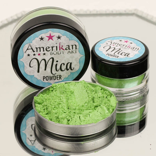 Amerikan Body Art Mica Powder GREEN APPLE
