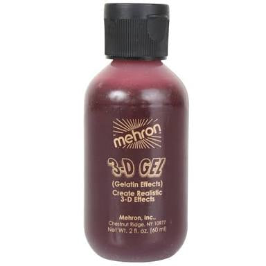 Mehron BLOOD RED 3D Gel Gelatin Effects 60ml