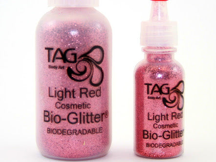 TAG cosmetic Bio Glitter LIGHT RED (rose pink)