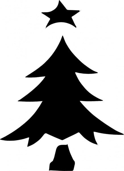 Christmas Tree TAG glitter tattoo stencil