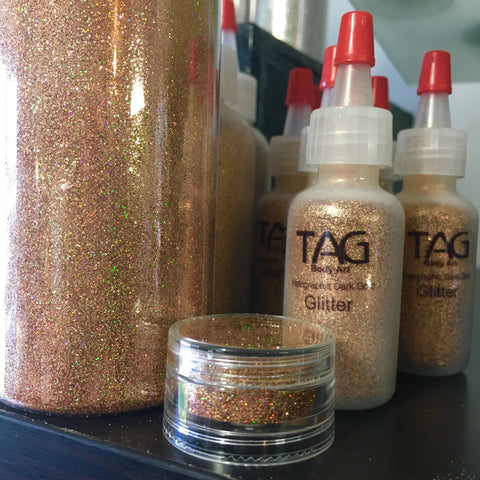 Holographic Dark Gold Cosmetic Glitter