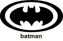 Bat Man TAG glitter tattoo stencil