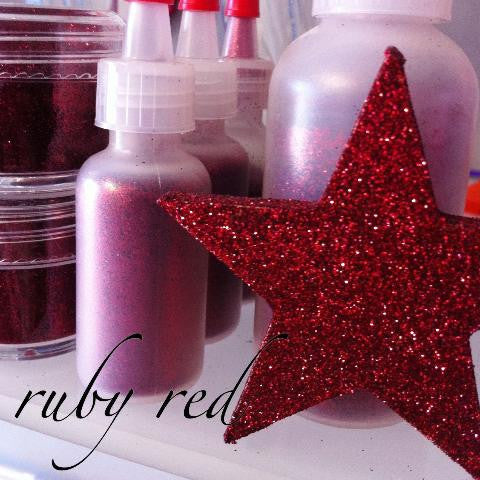 Ruby Red Cosmetic Glitter